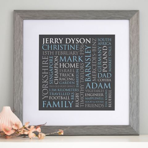 Personalised Dad's Typographic Art